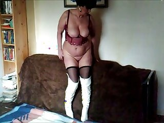 This horny woman needs love and she loves showing off her goodies