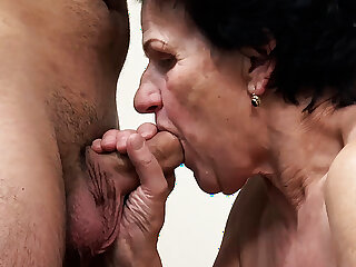 86 years elderly granny needs a young dick