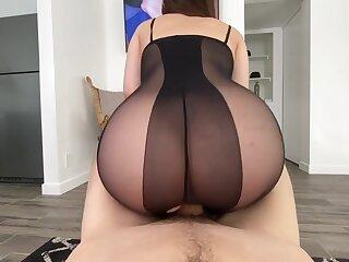 Real Xozilla Porn Boob tube Girl Big Booty Less Stockings Gets Prick Ejaculant Part1
