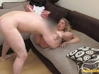 Young Blonde BabeGives Up On Her Modeling Dreams To Drag inflate Cock