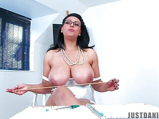 Derisive MILF Danica Collins takes off her clothes while set of beliefs