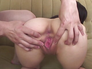 Arisa nakano bends forgo for an anal toy shacking up