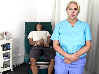 Sensuous, blondie nurse is using every chance wide obtain screwed, even if she is at work